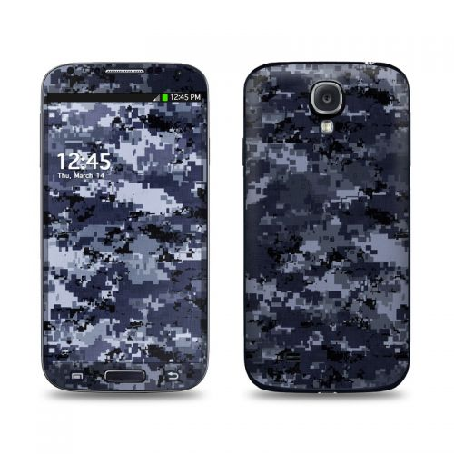 Digital Navy Camo Galaxy S4 Skin