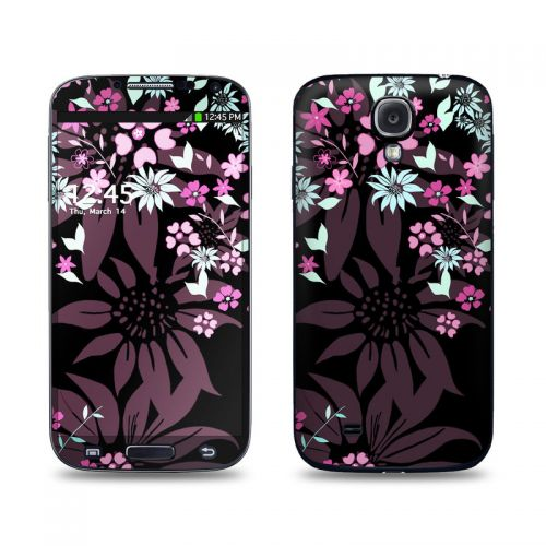 Dark Flowers Galaxy S4 Skin