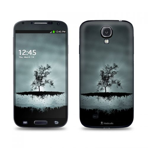 Flying Tree Black Galaxy S4 Skin