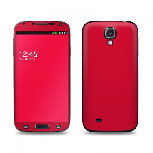 Solid State Red Galaxy S4 Skin