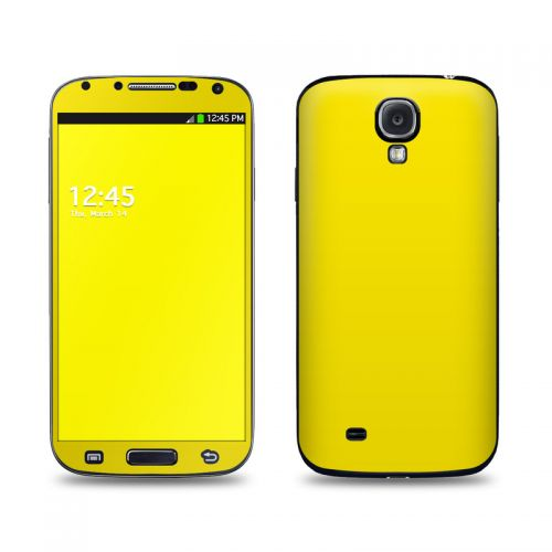 Solid State Yellow Galaxy S4 Skin