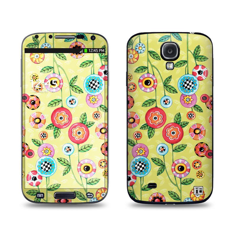 Button Flowers Galaxy S4 Skin