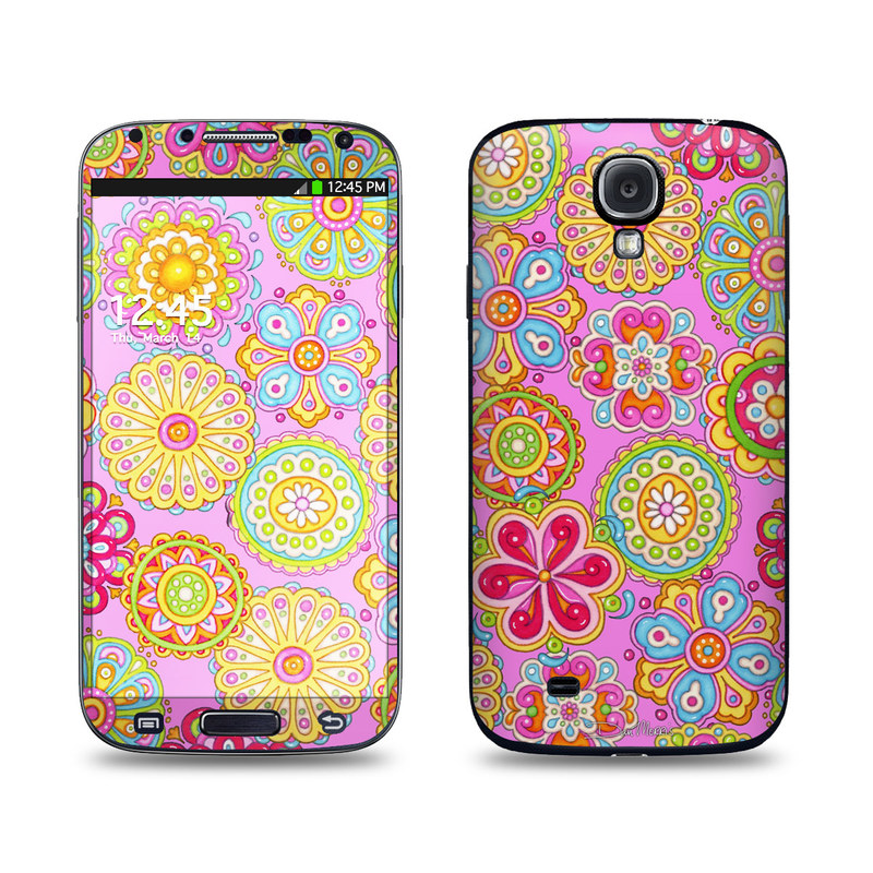 Bright Flowers Galaxy S4 Skin