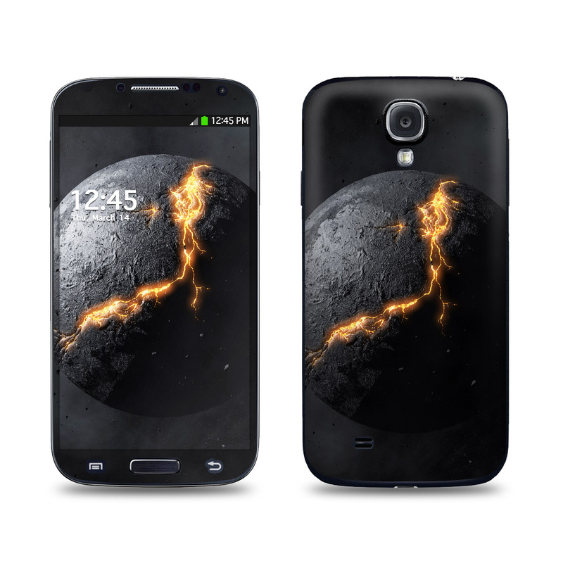 Samsung Galaxy S4 Skin design of Nature, Outer space, Moon, Astronomical object, Atmosphere, Universe, Planet, Space, Atmospheric phenomenon, Darkness with black, gray, red colors