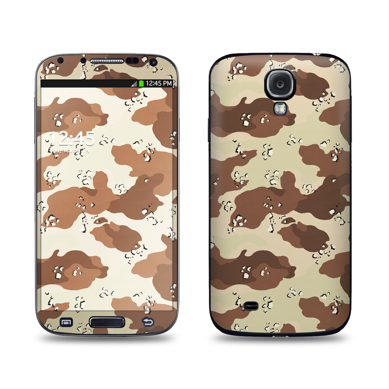 Samsung Galaxy S4 Skin design of Military camouflage, Brown, Pattern, Design, Camouflage, Textile, Beige, Illustration, Uniform, Metal with gray, red, black, green colors