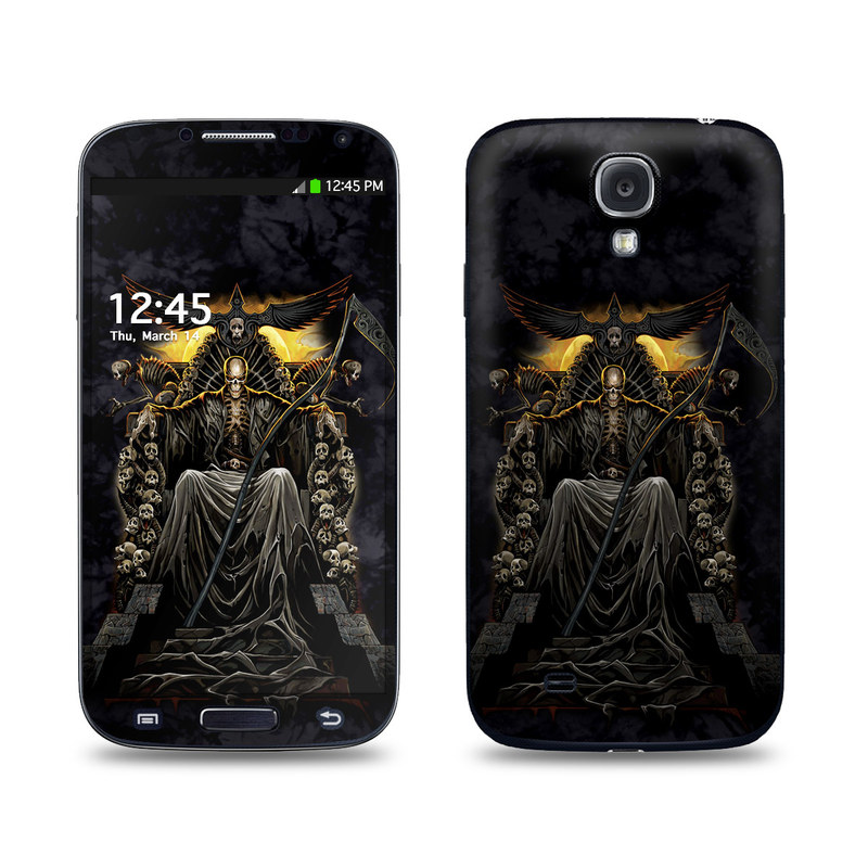 Samsung Galaxy S4 Skin design of Demon, Cg artwork, Darkness, Mythology, Supernatural creature, Fictional character, Art, Illustration with black, green, red colors