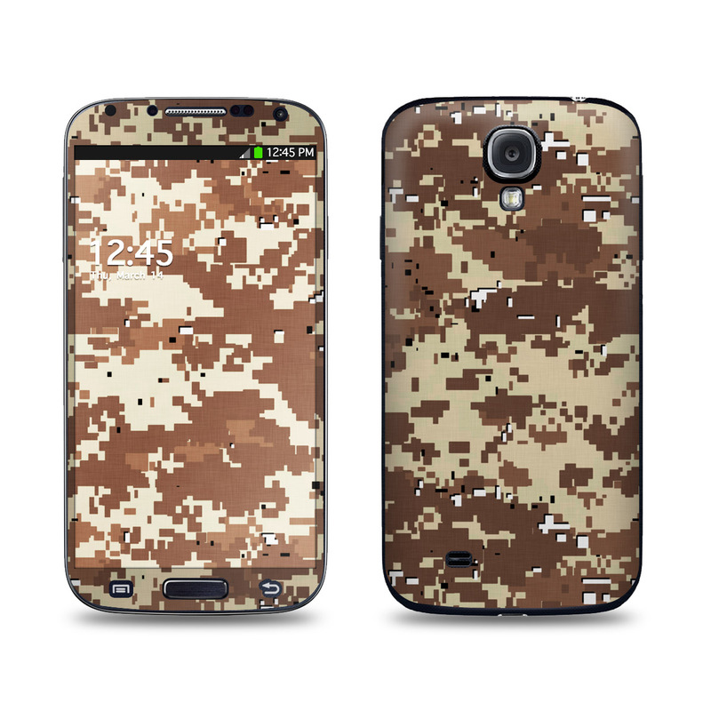 Digital Desert Camo Galaxy S4 Skin