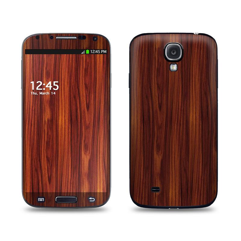 Dark Rosewood Galaxy S4 Skin