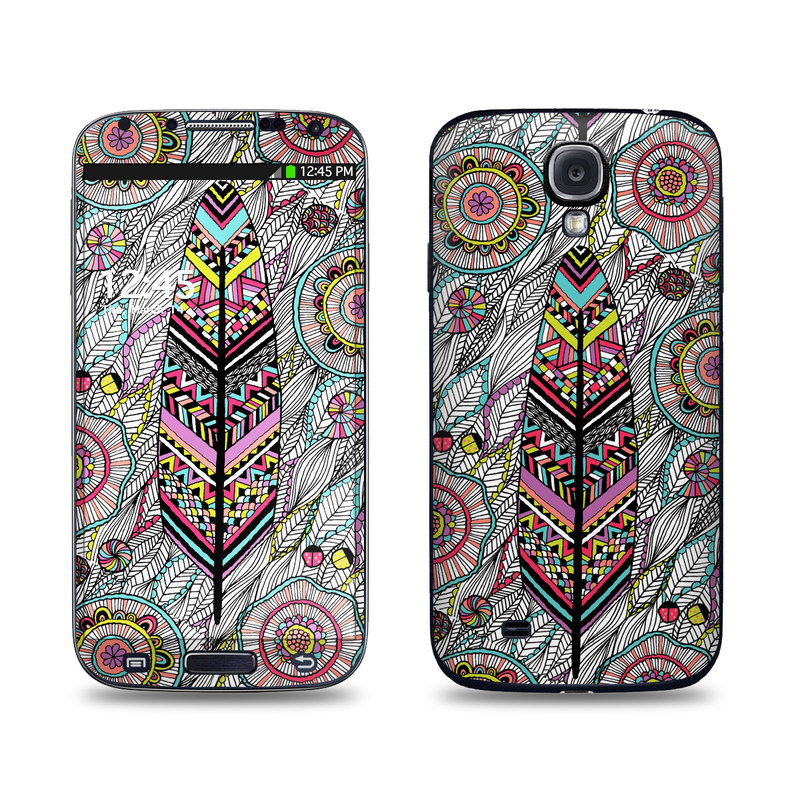 Samsung Galaxy S4 Skin design of Pattern, Psychedelic art, Visual arts, Motif, Design, Art, Textile, Paisley, Drawing with gray, black, red, blue, green, purple colors