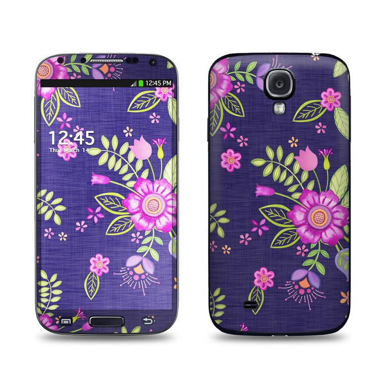 Folk Floral Galaxy S4 Skin