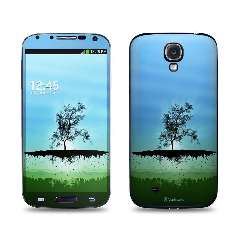 Flying Tree Blue Galaxy S4 Skin