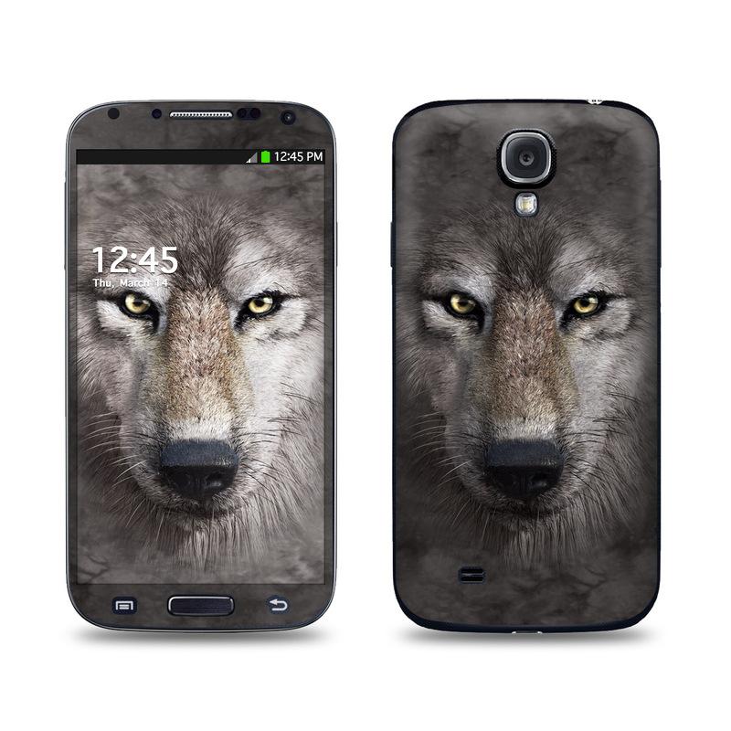 Grey Wolf Galaxy S4 Skin