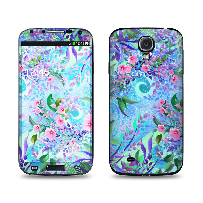 Samsung Galaxy S4 Skin design of Psychedelic art, Pattern, Lilac, Purple, Art, Pink, Design, Fractal art, Visual arts, Organism with gray, blue, purple colors
