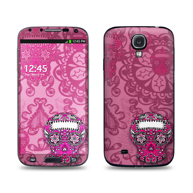Pink Lace Galaxy S4 Skin