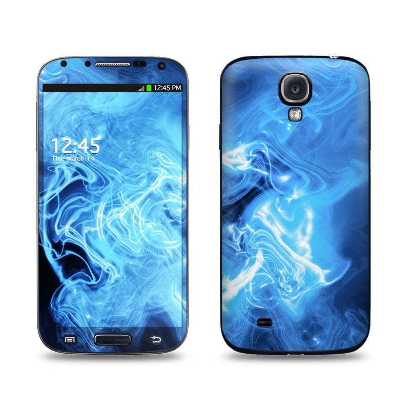 Blue Quantum Waves Galaxy S4 Skin