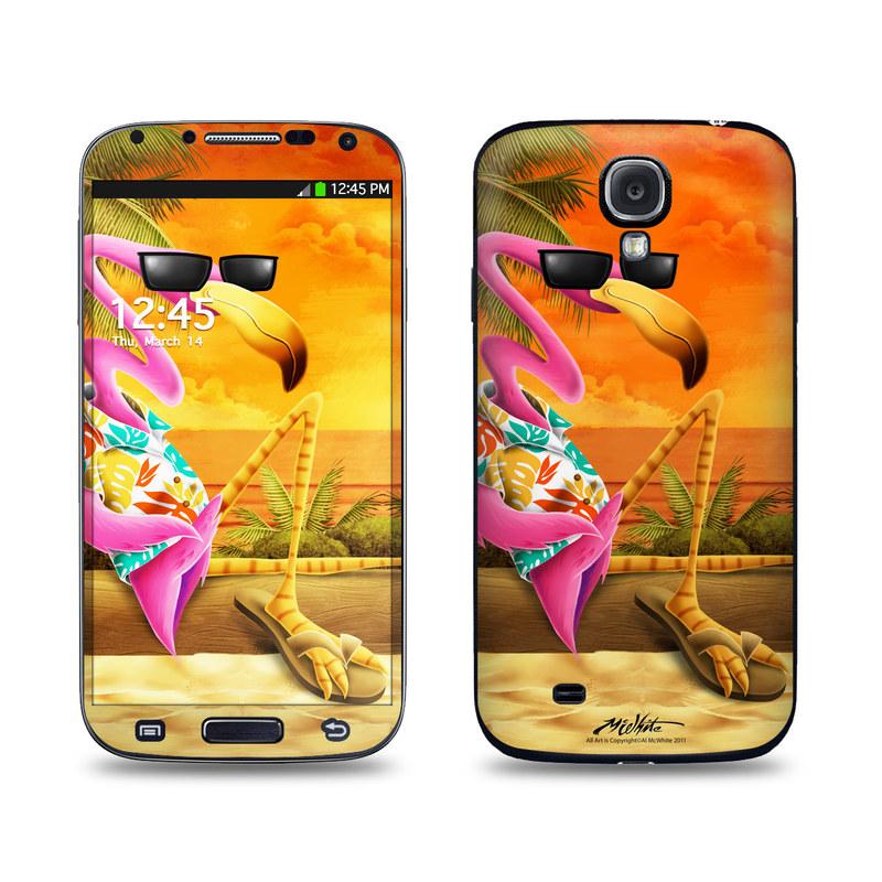 Sunset Flamingo Galaxy S4 Skin