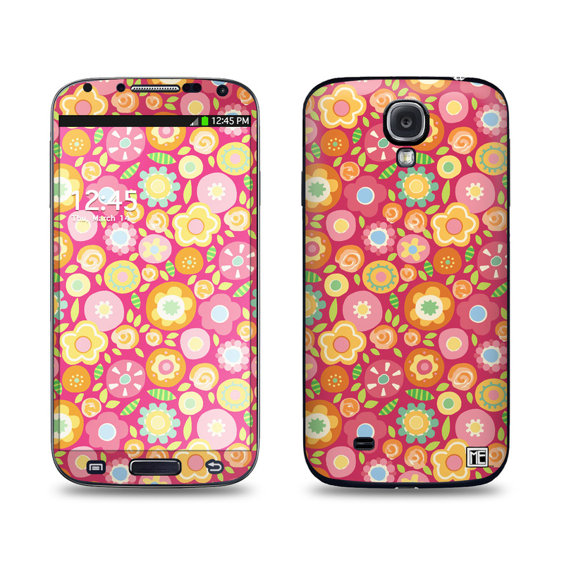 Flowers Squished Galaxy S4 Skin