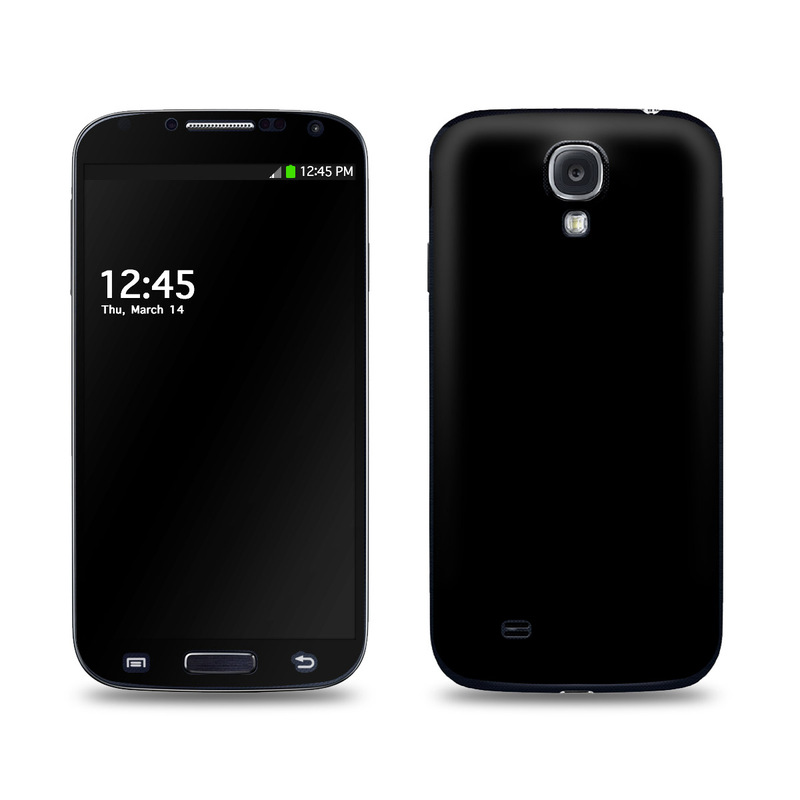 Solid State Black Galaxy S4 Skin