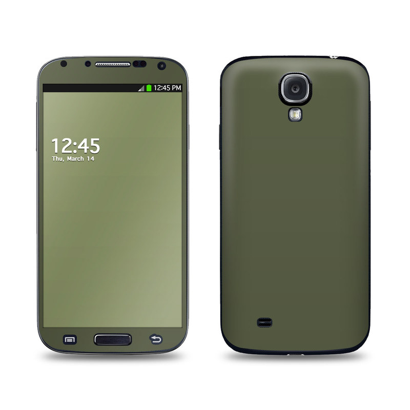 Solid State Olive Drab Galaxy S4 Skin