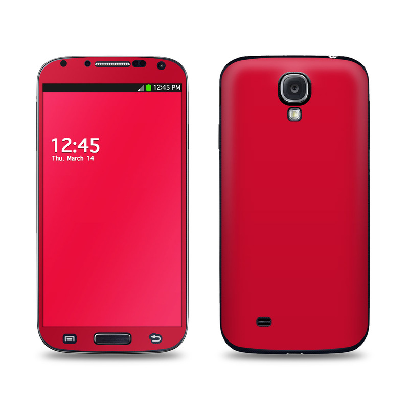 solid state red samsung galaxy s4 skin covers samsung