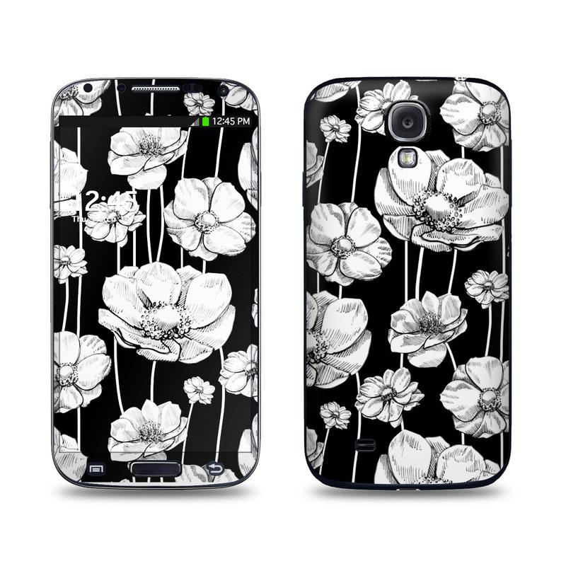 Striped Blooms Galaxy S4 Skin