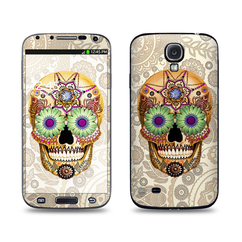 Sugar Skull Bone Galaxy S4 Skin