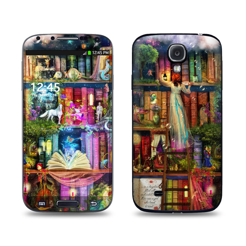 Samsung Galaxy S4 Skin design of Painting, Art, Theatrical scenery with black, red, gray, green, blue colors