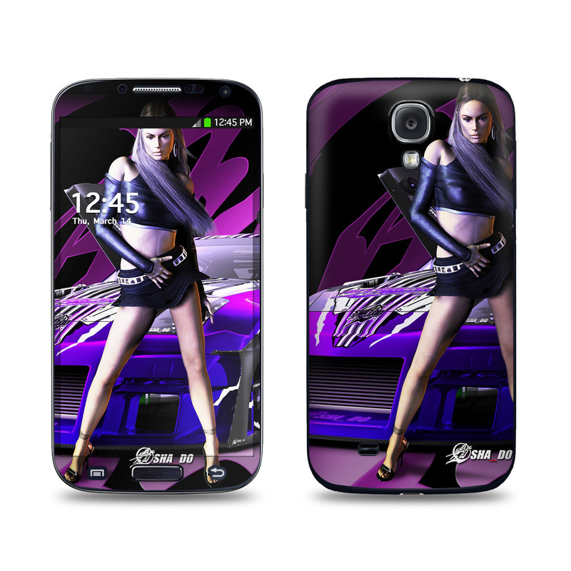 Z33 Purple Galaxy S4 Skin