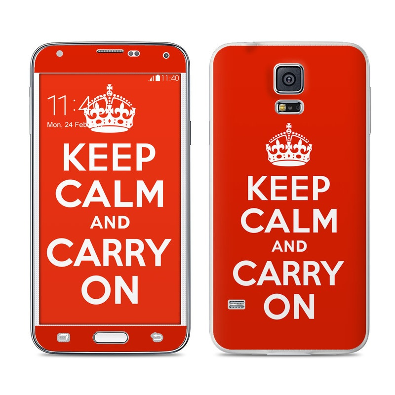 Keep Calm Galaxy S5 Skin