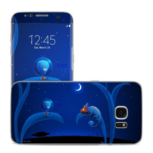 Alien and Chameleon Galaxy S7 Edge Skin
