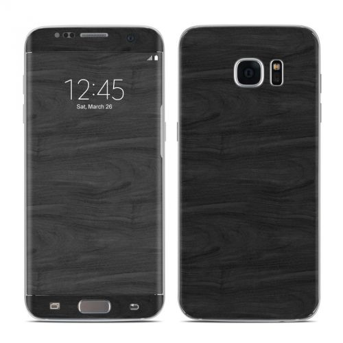 Black Woodgrain Galaxy S7 Edge Skin
