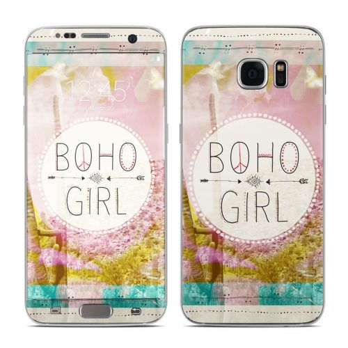 Boho Girl Galaxy S7 Edge Skin