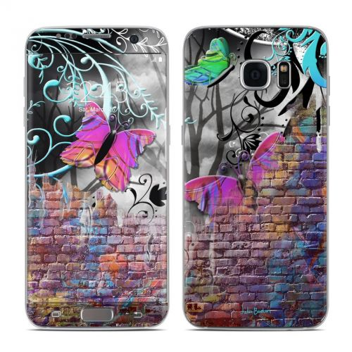 Butterfly Wall Galaxy S7 Edge Skin
