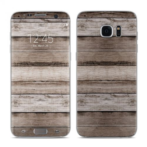 Barn Wood Galaxy S7 Edge Skin