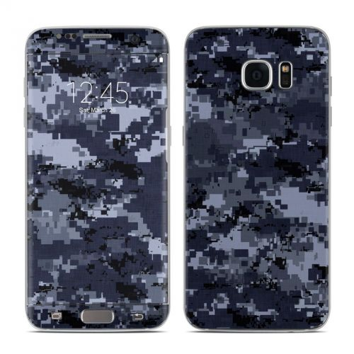 Digital Navy Camo Galaxy S7 Edge Skin