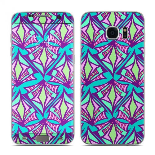 Fly Away Teal Galaxy S7 Edge Skin