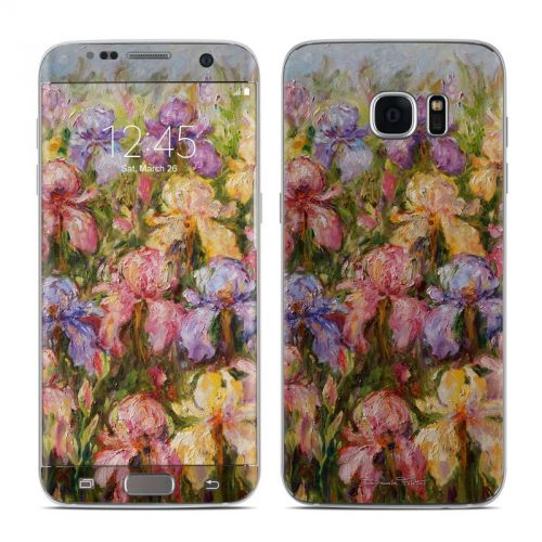 Field Of Irises Galaxy S7 Edge Skin