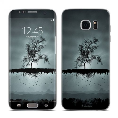 Flying Tree Black Galaxy S7 Edge Skin