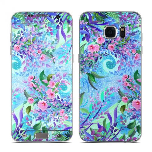 Lavender Flowers Galaxy S7 Edge Skin