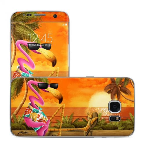 Sunset Flamingo Galaxy S7 Edge Skin