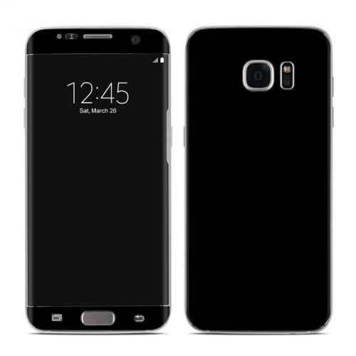 Solid State Black Galaxy S7 Edge Skin
