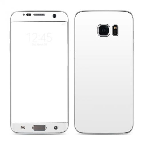 Solid State White Galaxy S7 Edge Skin