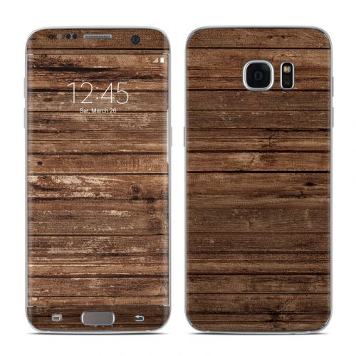 Stripped Wood Galaxy S7 Edge Skin