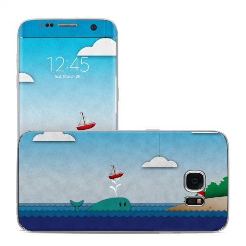 Whale Sail Galaxy S7 Edge Skin