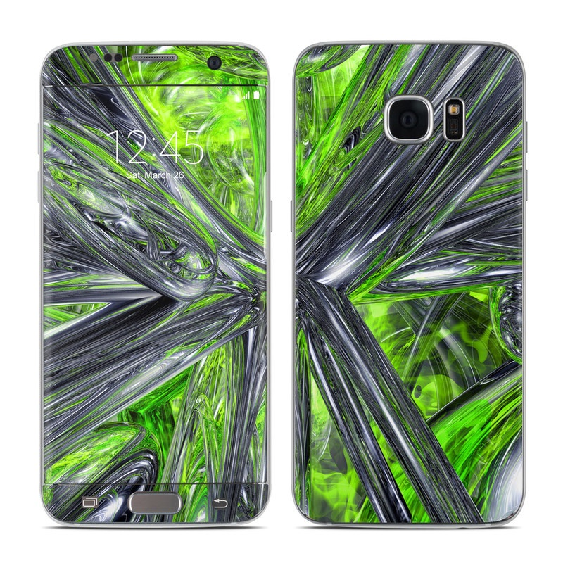 Emerald Abstract Galaxy S7 Edge Skin