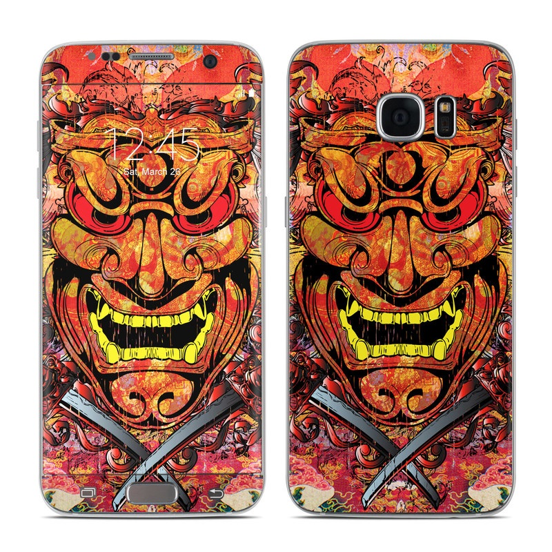 Samsung Galaxy S7 Edge Skin design of Art, Psychedelic art, Visual arts, Illustration, Fictional character, Demon with red, orange, yellow colors
