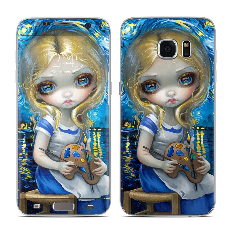 Alice in a Van Gogh Galaxy S7 Edge Skin