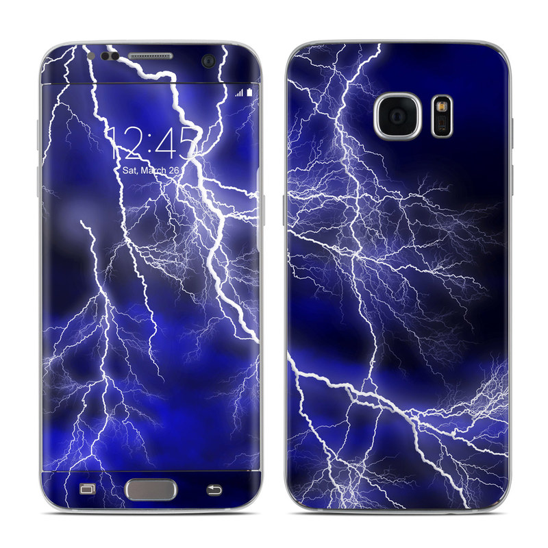 Apocalypse Blue Galaxy S7 Edge Skin