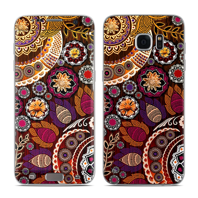 Autumn Mehndi Galaxy S7 Edge Skin