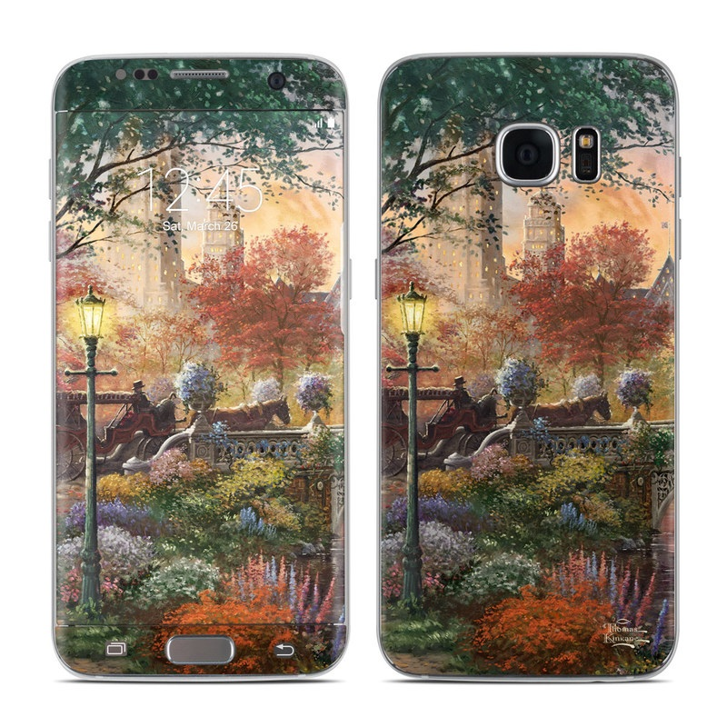 Autumn in New York Galaxy S7 Edge Skin